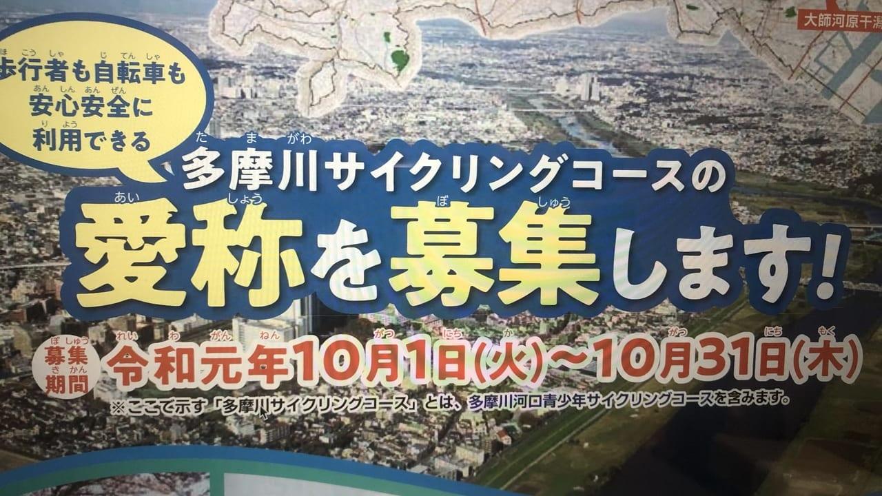 多摩川サイクリングコース(2019年撮影)