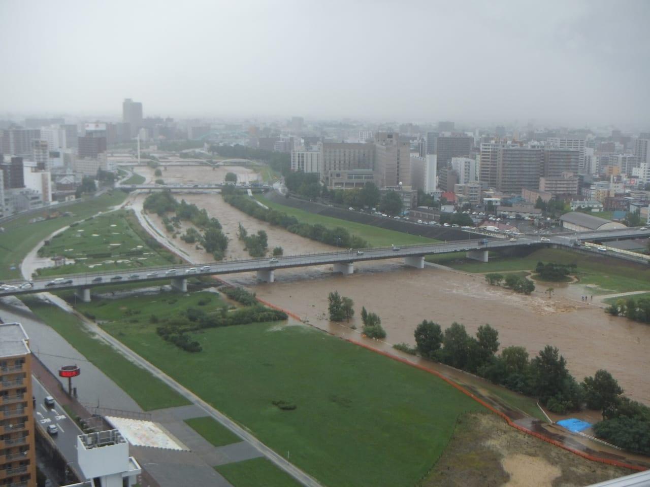 多摩川増水